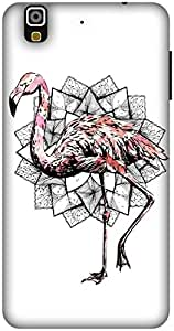 The Racoon Grip Fractal Flamingo hard plastic printed back case / cover for Yu Yureka