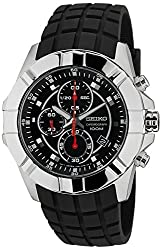 Seiko Lord Chronograph Black Dial Mens Watch - SNDD73P2