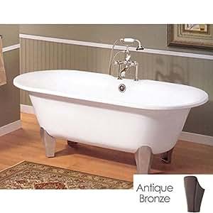 Cheviot Somerset Cast Iron Claw Foot Bathtub White / White