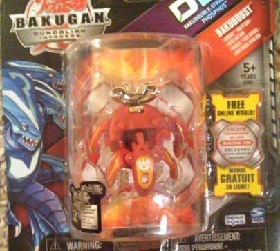 Bakugan Gundalian Invaders Doublestrike Bakuboost: Red Pyrus Phosphos 790g an... - 1