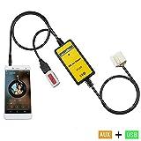 (ファーストクラス)FirstClass オーディオ USB AUX アダプタ 車ラジオ音楽再生 デジタルCDチェンジャー インタフェース 入力接続ケーブル アコード シビック オデッセイ S2000 シティ リッジライン CRV エレメント パイロット フィット