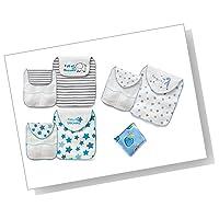 B.H. Select ベビー 汗取りパッド リバーシブルで使える ガーゼ パイル 生地 3枚組(ハンドタオルセット)赤ちゃん 乳児 取替ラクラク