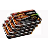 EZ Grill 2531 Pack of 4 Portable Disposable Barbeques, Party Size