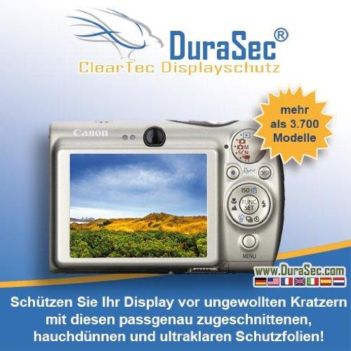 5 x DuraSec ClearTec Displayschutz für Casio Casio EXILIM EX-ZR10