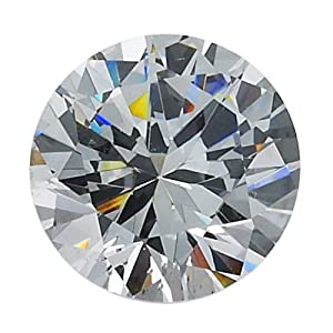 Lab-Created Round 3.5 mm Machine-Cut CZ Faceted Stone Pack of 50 Jewelry Making Findings