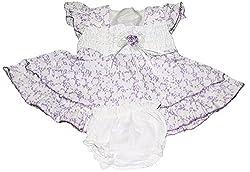 Bisbasta Baby Girl's Dress (fidatoPurpleff1_Purple_12 to 18 Months)
