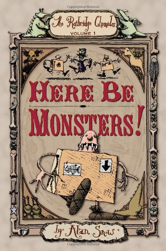 Book cover to 'Here Be Monsters!'