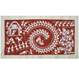 Folk Art Paintings Warli Style Tarpa Dance 47 x 26 Cmsby DakshCraft