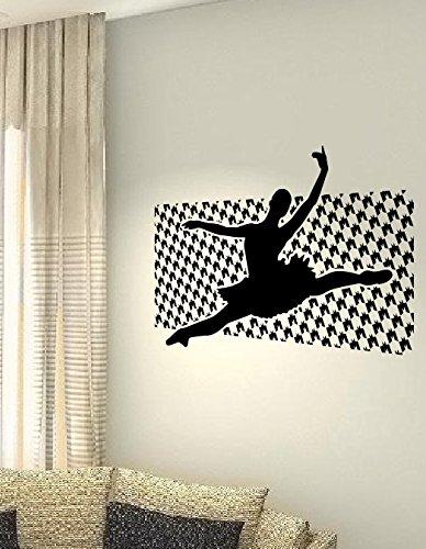 Ballerina Love Dance Salute Sport Hobby Cuore vita famiglia love House Citazioni da parete vinile adesivi decalcomanie Art Decor fai da te