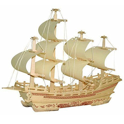 3D DIY Wooden Puzzle Toy Silk Merchant Ship Boat Model for Children Adult (Child Models compare prices)