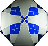 Longridge Checked Pattern Umbrella - Navy/White