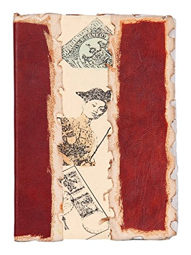 Store Indya Leather Journal Diarys Travel Notebook Embossed Sketchbook with 75 Sheets 150 Unlined Handmade Pages