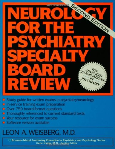 Neurology For The Psychiatry Specialist Board Brunner Mazel Continuing Education in Psychiatry and Psychology087630918X