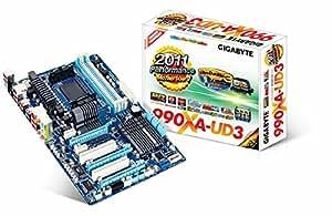 Gigabyte GA-990XA-UD3 Carte-mère ATX Socket AM3+ AMD 990X USB 3.0, FireWire Gigabit Ethernet audio HD (8 canaux) (Rev 3.0)