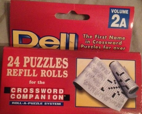Dell 24 Puzzles Refill Rolls Crossword Companion Volume 2A - 1