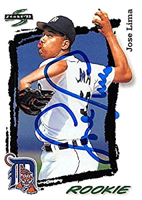 Jose Lima autographed Baseball Card (Detroit Tigers) 1995 Score baseball card #292 rookie