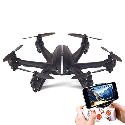 COM-SHOT 【 4ch ドローン 】 高画質 カメラ 搭載 ヘキサコプター 6軸 ジャイロ 安定 飛行 3D 飛行 Wifi 【 生中継 対応 】 ブラック MI-X800-BK
