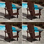 Adirondack Brown Outdoor Chair - Bold...