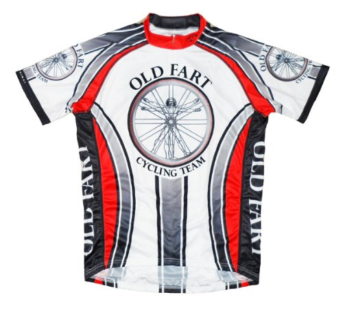 Old Fart Cycling Team Jersey by Primal Wear Vitruvian Man Men's Short Sleeve Large (Old Cycling Jersey compare prices)