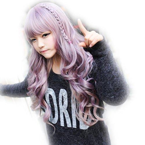 Amybria 28 'japanischen Harajuku Zippe Mixx vient š€ všŠlo 24' Curly Lolita Cosplay Partei-perruque