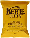 Kettle Chips Mature Cheddar and Red Onion 40 g (Pack of 18)