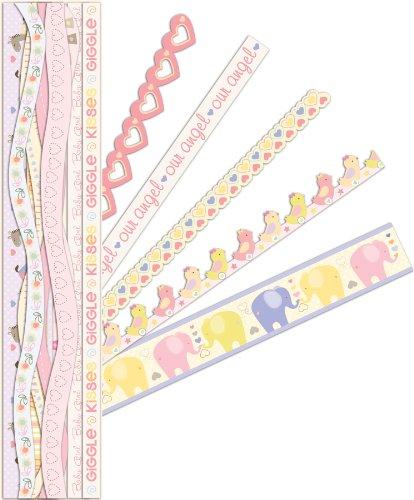 K&Company Itsy Bitsy Baby Girl Adhesive Borders front-375250