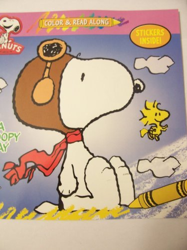 Peanuts Color & Read Along with Stickers ~ A Snoopy Day - 1