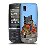 Head Case Designs Cat Animals Breaktime Hard Back Case Cover For Nokia Asha 300