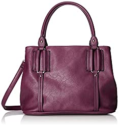 MG Collection Cami Classic Everyday Office Tote, Purple, One Size