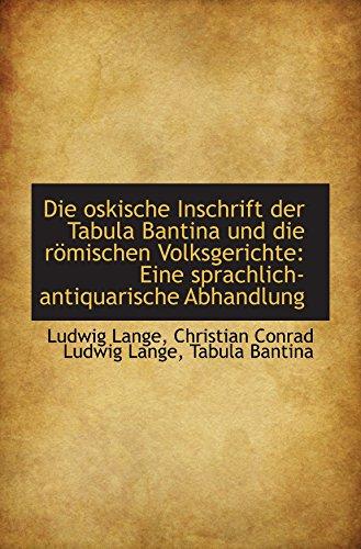 Die oskische Inschrift der Tabula Bantina und die römischen Volksgerichte: Eine sprachlich-antiquari