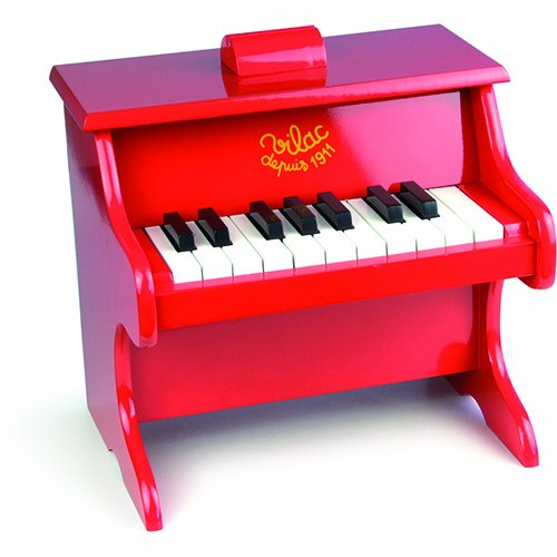Vilac Baby Musical Toy Child Sized Piano, Red - 1