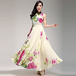 Mahadev Enterprise Long Dress Bohemia Floral Day celebration ( Semi Stitched )