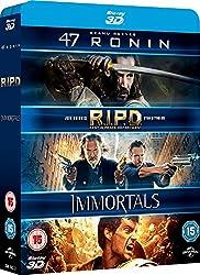 47 Ronin / RIPD / Immortals [Blu-ray] [2011] [Region Free]