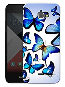"""Butterflies In Blue Printed Designer Mobile Back Cover For """"Google Infocus M350"""" By Humor Gang (3D, Matte Finish, Premium Quality, Protective Snap On Slim Hard Phone Case, Multi Color)"""