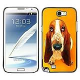 Ziland Slim Design Case Cover Shel Basset Hound  Pendant Ear Dog Samsung Galaxy Note 2 N7100