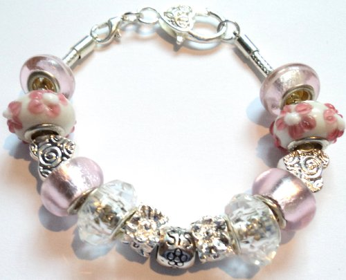 SIS (Sister) Pink Pandora Style Charm Bracelet - Ideal Birthday Present