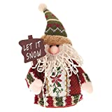 Festnight 素敵なクリスマス 玩具人形 サンタクロース トナカイ 雪だるま クリスマスの飾り 布の人形