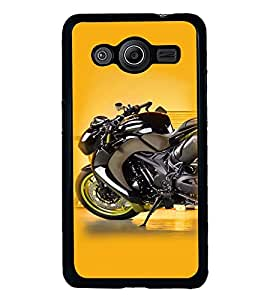 Fuson Premium Sports Bike Metal Printed with Hard Plastic Back Case Cover for Samsung Galaxy Core2 G355H