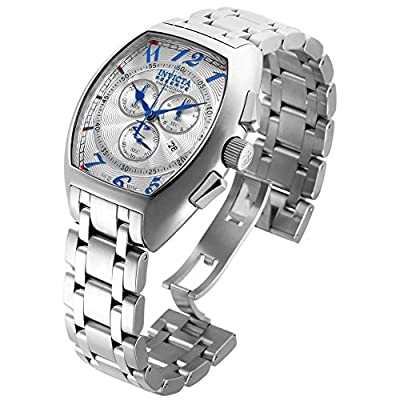 Invicta Reserve Chronograph Silver Dial Stainless Steel Mens Watch 17277