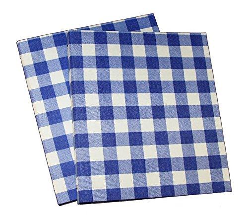 3 ring binder daily planner organizer gingham fabric design set