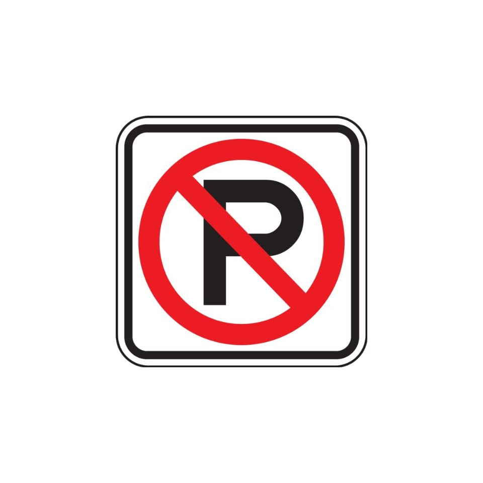 Accuform Signs FRP159RA Engineer Grade Reflective Aluminum Parking Sign (MUTCD R8 3), Legend (NO PARKING SYMBOL), 12 Length x 12 Width x 0.080 Thickness, Red/Black on White