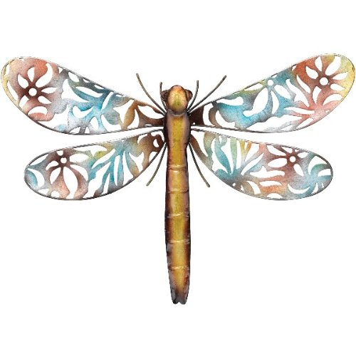 Beautiful dragonfly wall art new garden new life for Dragonfly mural