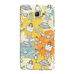 ColourCrust Samsung Galaxy ON7 Mobile Phone Back Cover With Beach Pattern Style - Durable Matte Finish Hard Plastic Slim Case