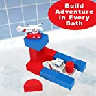 Just Think Toys Bathtime Consruction Building Toy (Coast Guard Boat And Helicopter)