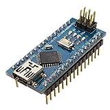 HiLetgo Nano V3.0 ATmega328P 5V 16MHz CH340G USB Micro-controller Development Board Compatible to Arduino