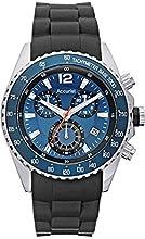 Comprar Acurist MS710N - Reloj de pulsera con cronógrafo para hombre (mecanismo de cuarzo, esfera analógica azul y correa de silicona negra)