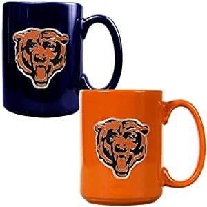 NFL Chicago Bears Two Piece Ceramic Mug Set - Primary Logo by Great American Products