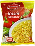 Amino Instant Spicy Chicken Broth with Noodles 57 g (Pack of 24)