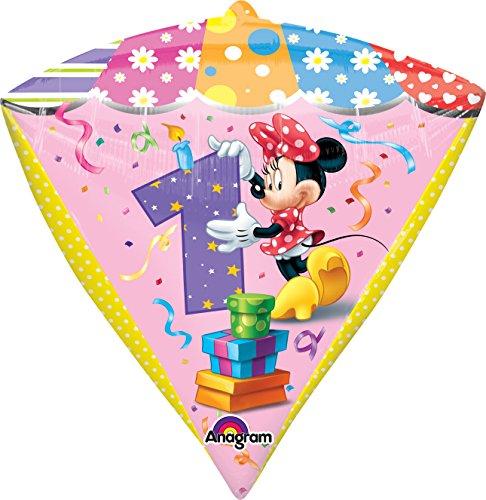"Anagram International Minnie Age 1 Diamondz Balloon Pack, 17"", Multicolor"