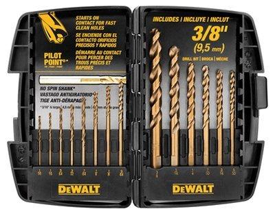 Dewalt 14 Pc. Cobalt Pilot Point Drill Bit Set